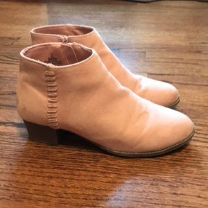 OLD NAVY light pink ankle boots